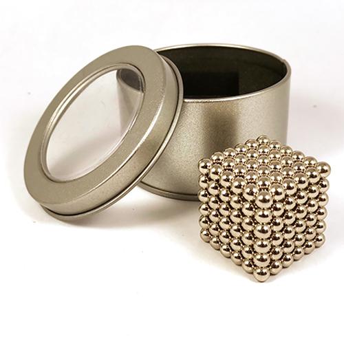Серебристый неокуб - 216 шариков диаметром 5 мм.