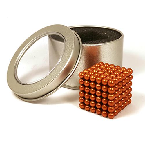 Золотой неокуб - 216 шариков диаметром 5 мм.