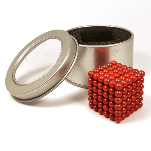 Красный неокуб - 216 шариков диаметром 5 мм.