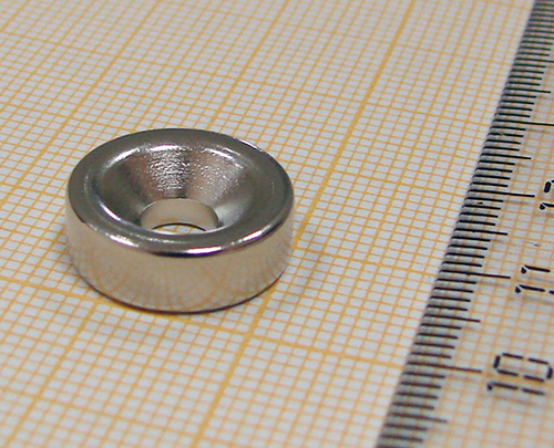 Неодимовый магнит кольцо с зенковкой D15xd5/10x5 (зенк.)