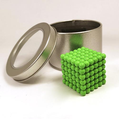 Салатовый неокуб - 216 шариков диаметром 5 мм.
