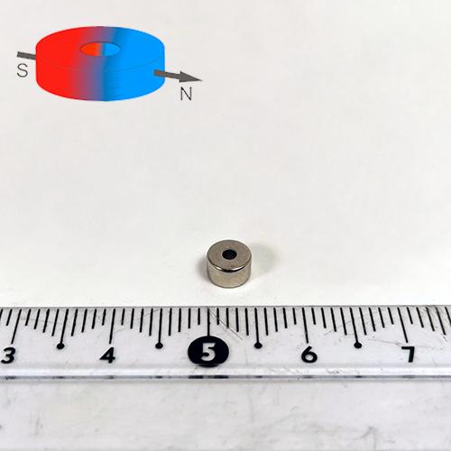 Неодимовый магнит трубка D5x1.5x3, N35(диа)
