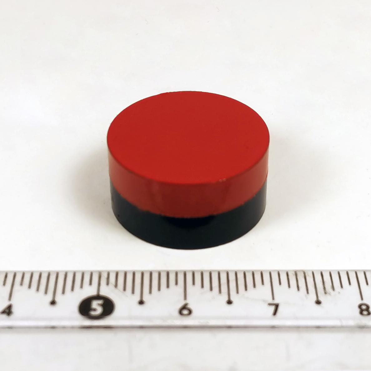 Цветной магнит диск 20х10